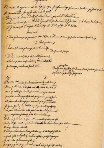 6. redovna sjednica 1903.