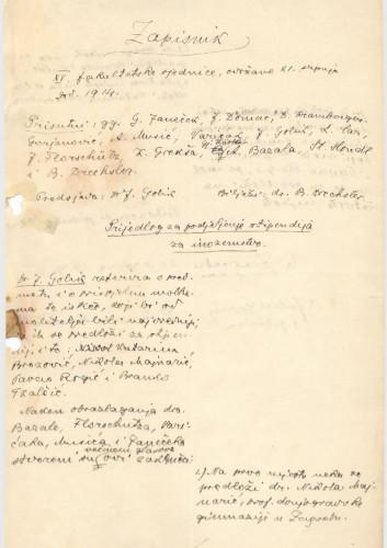 15. redovna sjednica 1913.-1914.