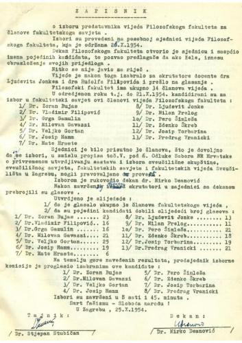 1. izvanredna sjednica 1954.-1955.