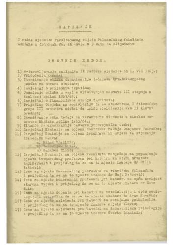 1. redovna sjednica 1963.-1964.