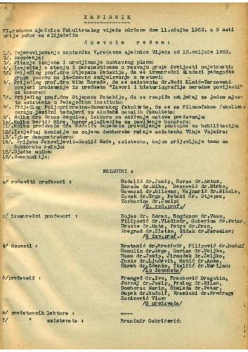 6. redovna sjednica 1951.-1952.