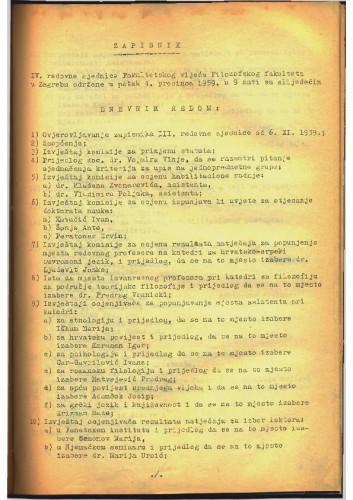 4. redovna sjednica 1959.-1960.