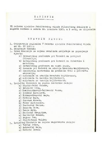 6. redovna sjednica 1965.-1966.