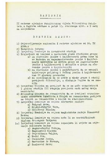 2. redovna sjednica 1964.-1965.
