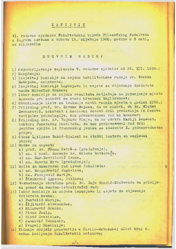 6. redovna sjednica 1959.-1960.