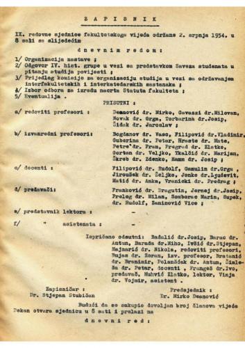 9. redovna sjednica 1953.-1954.