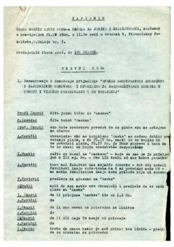 Zbor radnih ljudi Odjela za jezike i književnosti 1979.-1980.