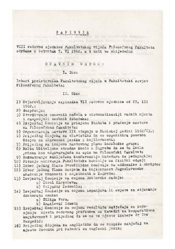 8. redovna sjednica 1961.-1962.
