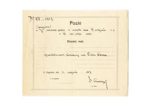 5. izvanredna sjednica 1913.