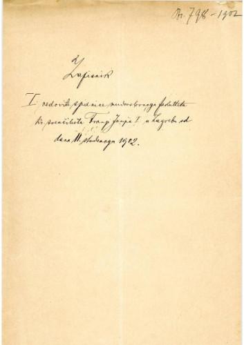 1. redovna sjednica 1902.