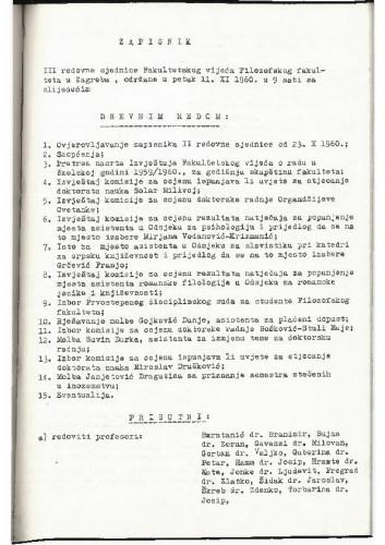3. redovna sjednica 1960.-1961.