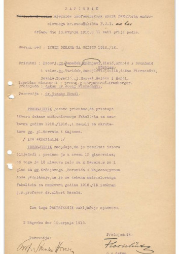 8. izvanredna sjednica 1914.-1915.
