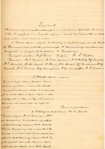 7. redovna sjednica 1903.