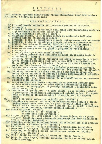 8. redovna sjednica 1954.-1955.