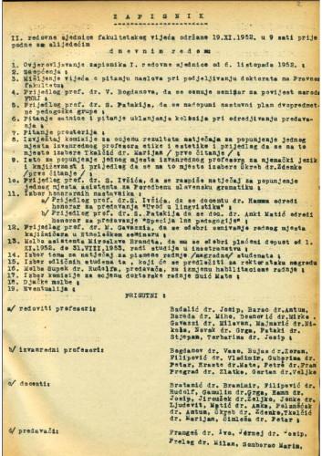 2. redovna sjednica 1952.-1953.