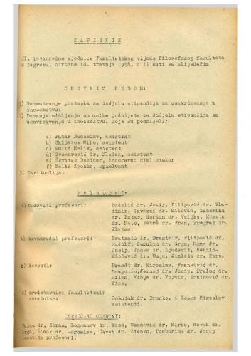 2. izvanredna sjednica 1957.-1958.