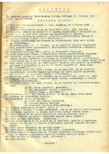 6. redovna sjednica 1954.-1955.