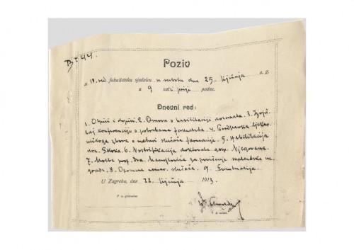 4. redovna sjednica 1913.