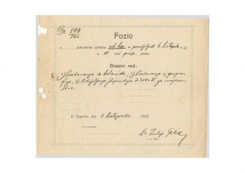 1. izvanredna sjednica 1913.-1914.