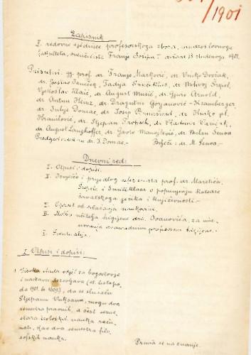 2. redovna sjednica 1901.