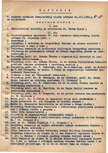 5. redovna sjednica 1953.-1954.