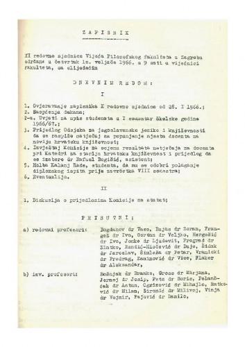 11. redovna sjednica 1965.-1966.