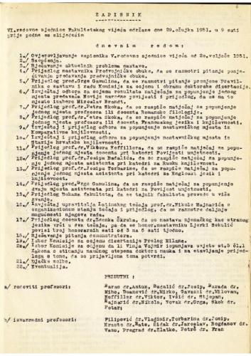 6. redovna sjednica 1950.-1951.
