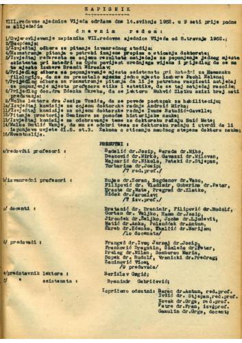 8. redovna sjednica 1951.-1952.