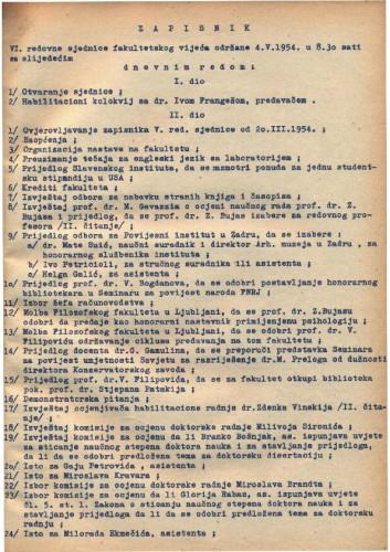 6. redovna sjednica 1953.-1954.