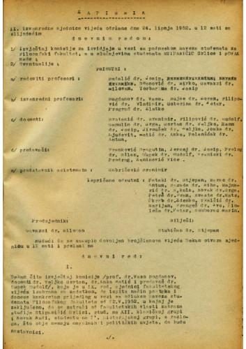 2. izvanredna sjednica 1951.-1952.