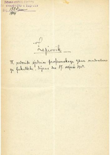 4. redovna sjednica 1904.