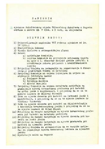 8. redovna sjednica 1963.-1964.