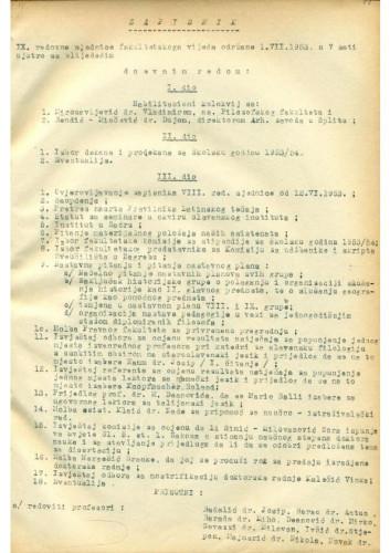 9. redovna sjednica 1952.-1953.