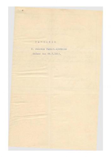 10. redovna sjednica 1913.-1914.