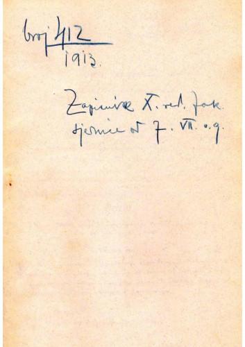 10. redovna sjednica 1913.