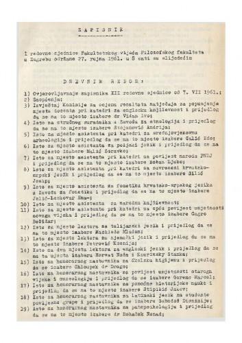 1. redovna sjednica 1961.-1962.