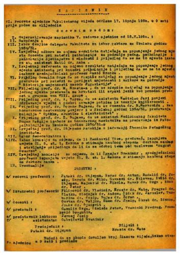 6. redovna sjednica 1949.-1950.