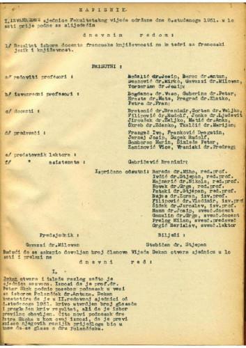 1. izvanredna sjednica 1951.-1952.