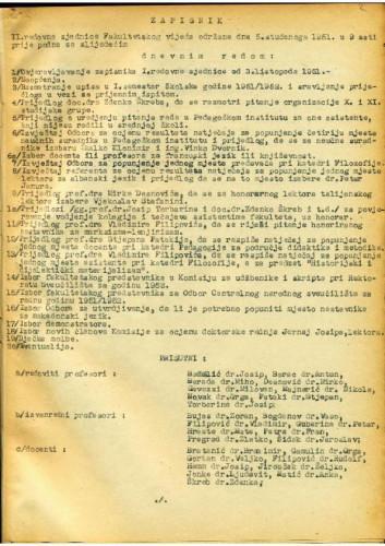 2. redovna sjednica 1951.-1952.