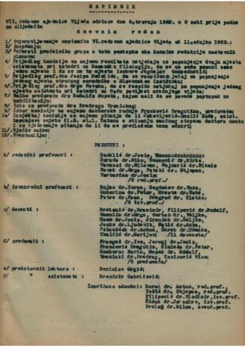 7. redovna sjednica 1951.-1952.