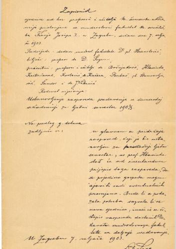 1. ad hoc sjednica 1903.
