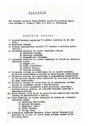 7. redovna sjednica 1961.-1962.
