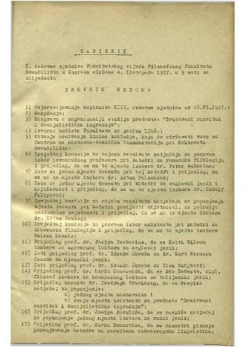 1. redovna sjednica 1957.-1958.