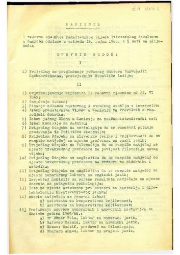 1. redovna sjednica 1965.-1966.