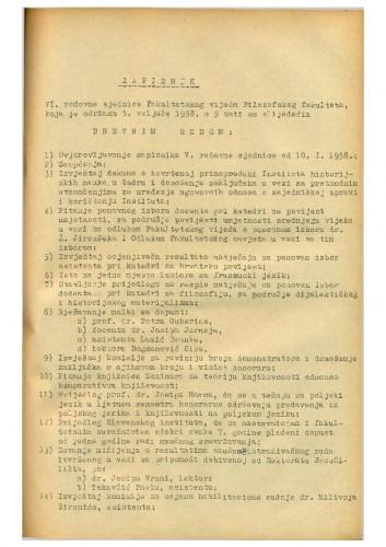 6. redovna sjednica 1957.-1958.