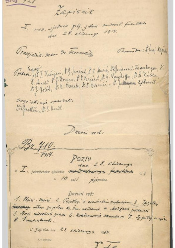 1. redovna sjednica 1914.-1915.