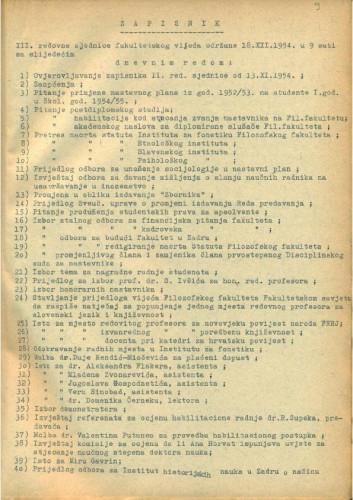 3. redovna sjednica 1954.-1955.