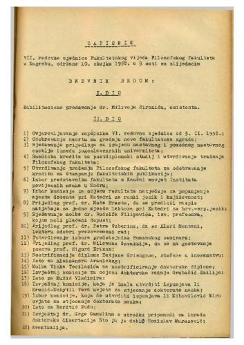 7. redovna sjednica 1957.-1958.