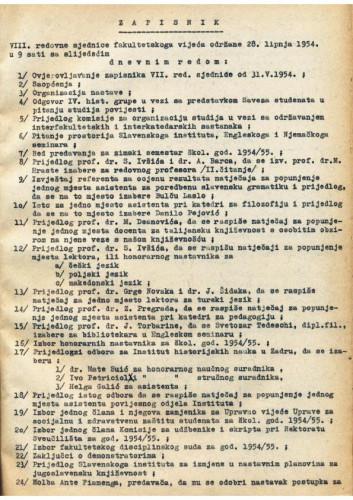8. redovna sjednica 1953.-1954.