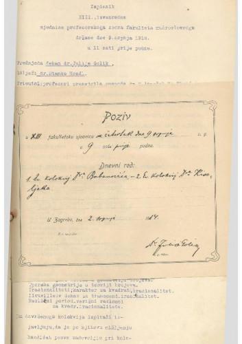 13. izvanredna sjednica 1913.-1914.
